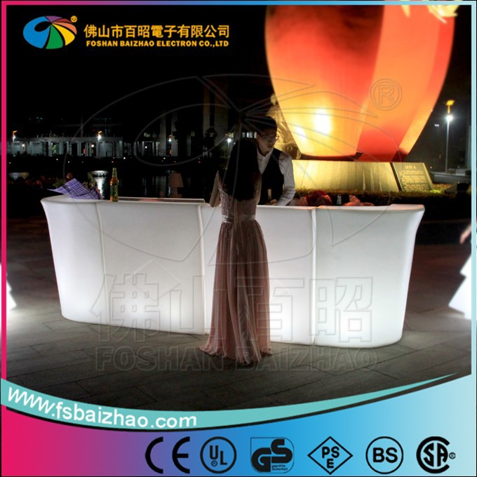 led light table/led illuminated cocktail table/under table led light