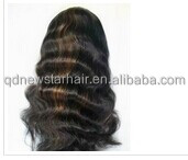New Arrival Extra Long Wavy 24'' Malaysian Human Hair Full Lace Wig With Natural Hairline At Front for Wholesale