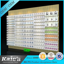 phone accessories display case/mobile accessories display