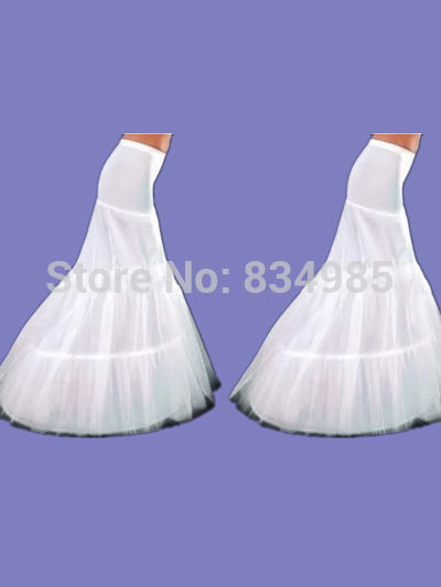 MOON BUNNY New Arrival Hot Sale Cheap High Quality Mermaid Petticoat 2 Hoops White Wedding Dress Crinoline Wholesale MOQ 1set