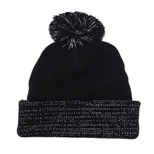 Winter keep warm wool knit hats pom beanie cap with custom label