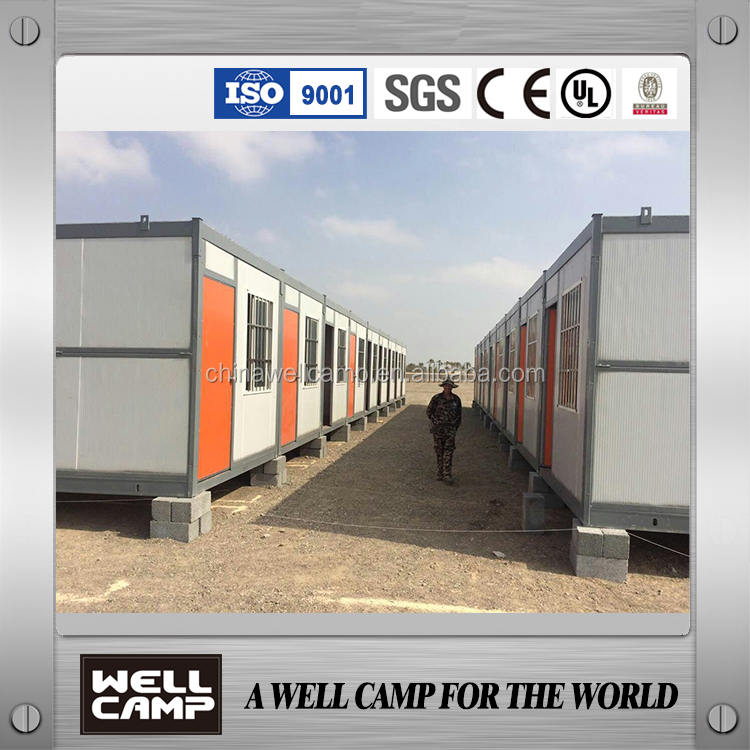 Wellcamp prefab folding container house for sale