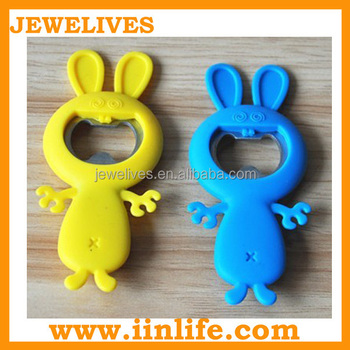 Customized gift silicone talking round key bottle opener