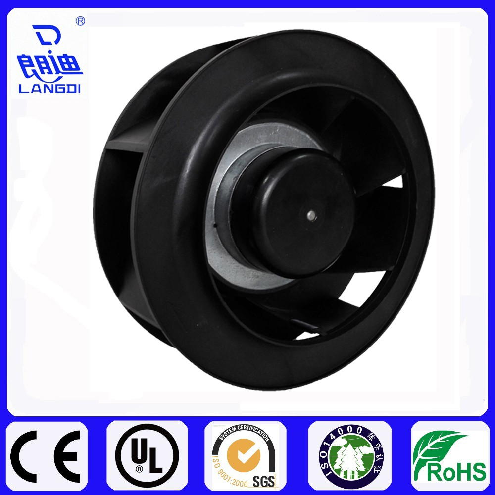 EC230V 190mm Small Electric Single Inlet Backward Curved Centrifugal Plastic Fan For Industrial and purifier CE/UL
