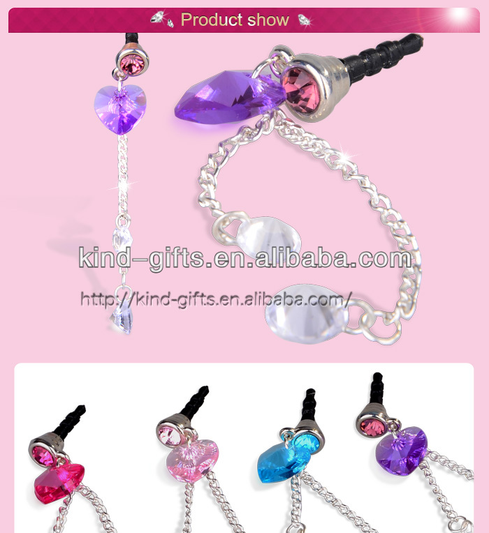 Hot Sell Bling Rhinestone Diamond Crystal Anti Dust Plug Stopper Wholesale Supplier|Factory|Manufacturer