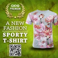 ciao sportswear-sweet and flower design children t shirt