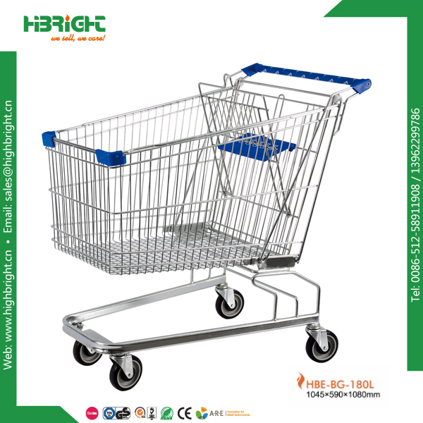 180L cheap price supermarket trolley cart retail shop