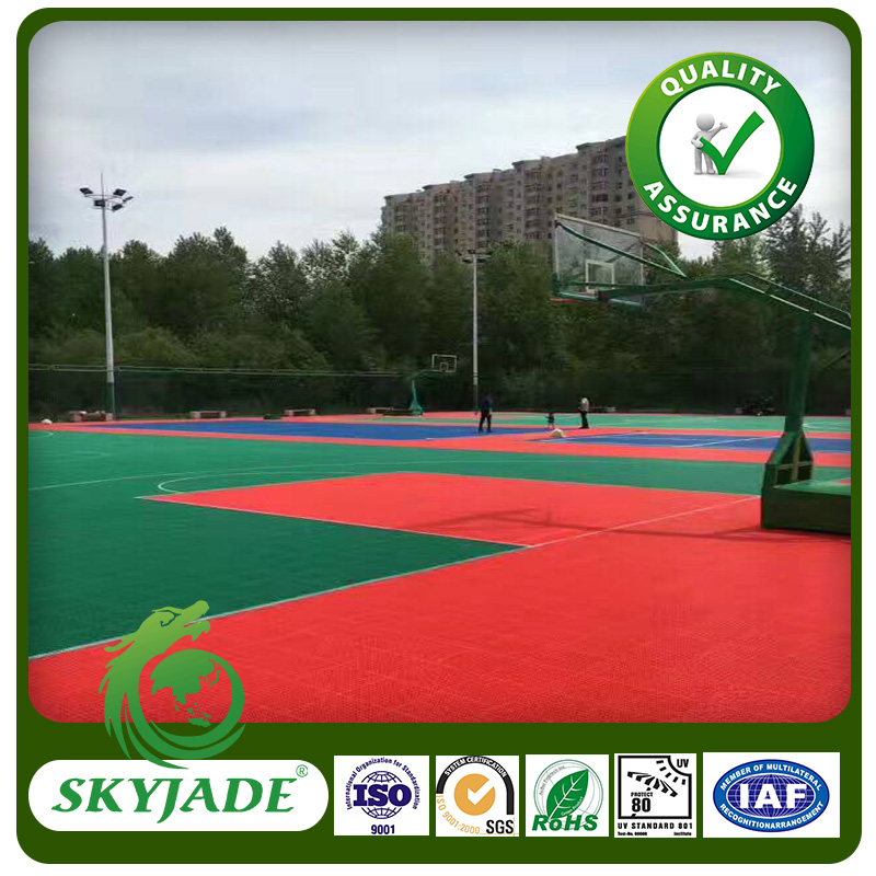 Chinese Best Quality Long Service Interlocking Sports Flooring