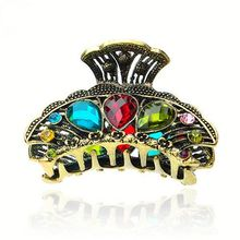 Fashion Decorative Rhinestone Large Zinc Alloy Hair Claw