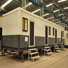 steel prefabricated poultry farm villa house container on wheels