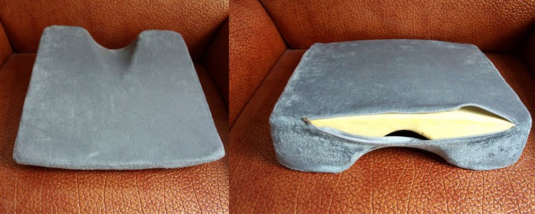 Comfort Foam Wedge Coccyx Cushion for a Car Seat or Chair