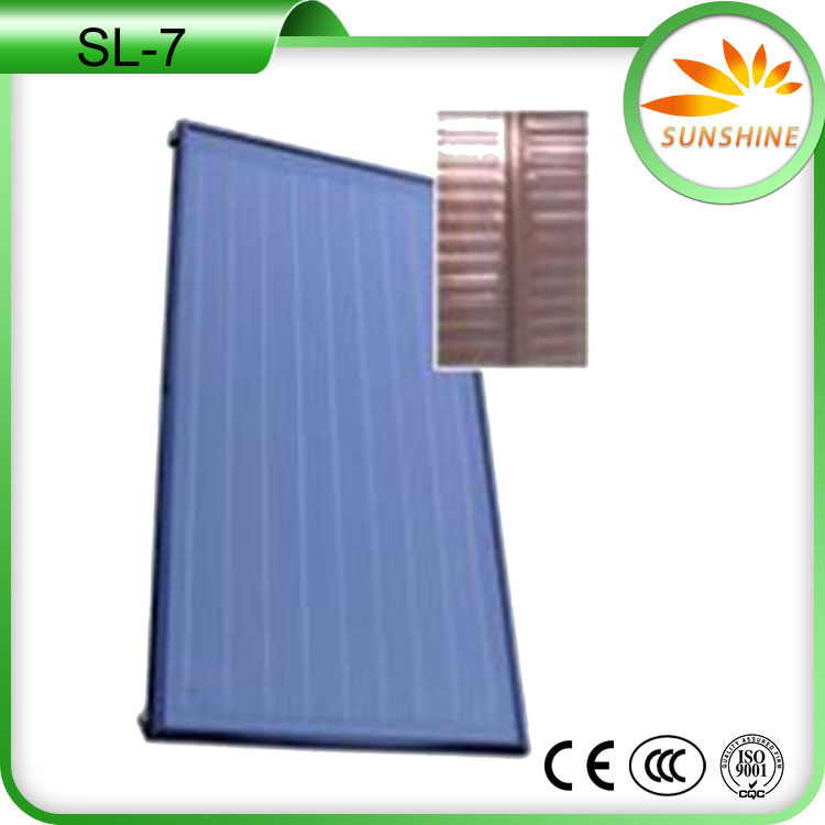 China factory hight quality solar water heater with blue tinox solar collector