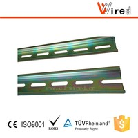 Aluminium din rail steel top hat din rail with zinc coating 35mm standard