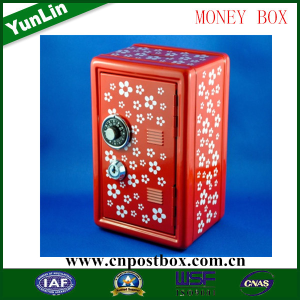 YunLin YLQX-004 size Money Savings box Cash Tin Can Piggy Bank