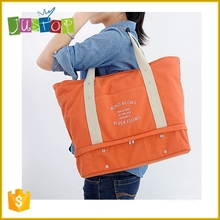 Justop Canvas Travel Bag Quality Tote Bag For Clothes Shoes Organizer