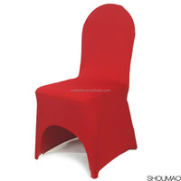 high quality pure round spandex back chair cover made in china