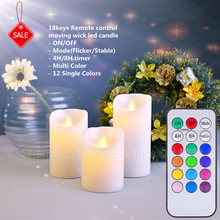 real wax flameless led candle