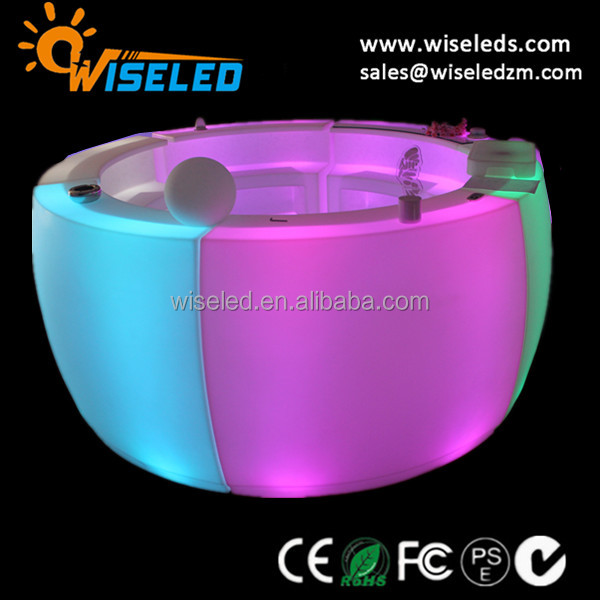 modern style led lighting plastic pub bar counter for decoration