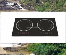 Wholesales kitchen equipment double burners touch sensor Induction cooker cootop stove hob with steel ring