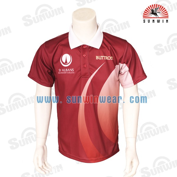 Hot sell custom sublimation printing polo shirt cricket for What stores sell polo shirts