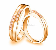 18k gold plated new model wedding ring , couple wedding ring
