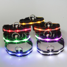 NEW arrival fancy LED dog collars LED training dog collar fiber optic LED dog