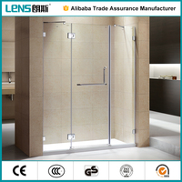 2016 New Design Free standing Stainless Steel Hinge Open Style Shower Enclosure/Room/cabinet/Screen