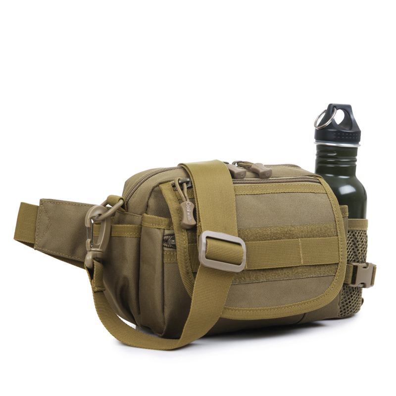 2017 outdoor sports military tactical waist belt bags with molle system