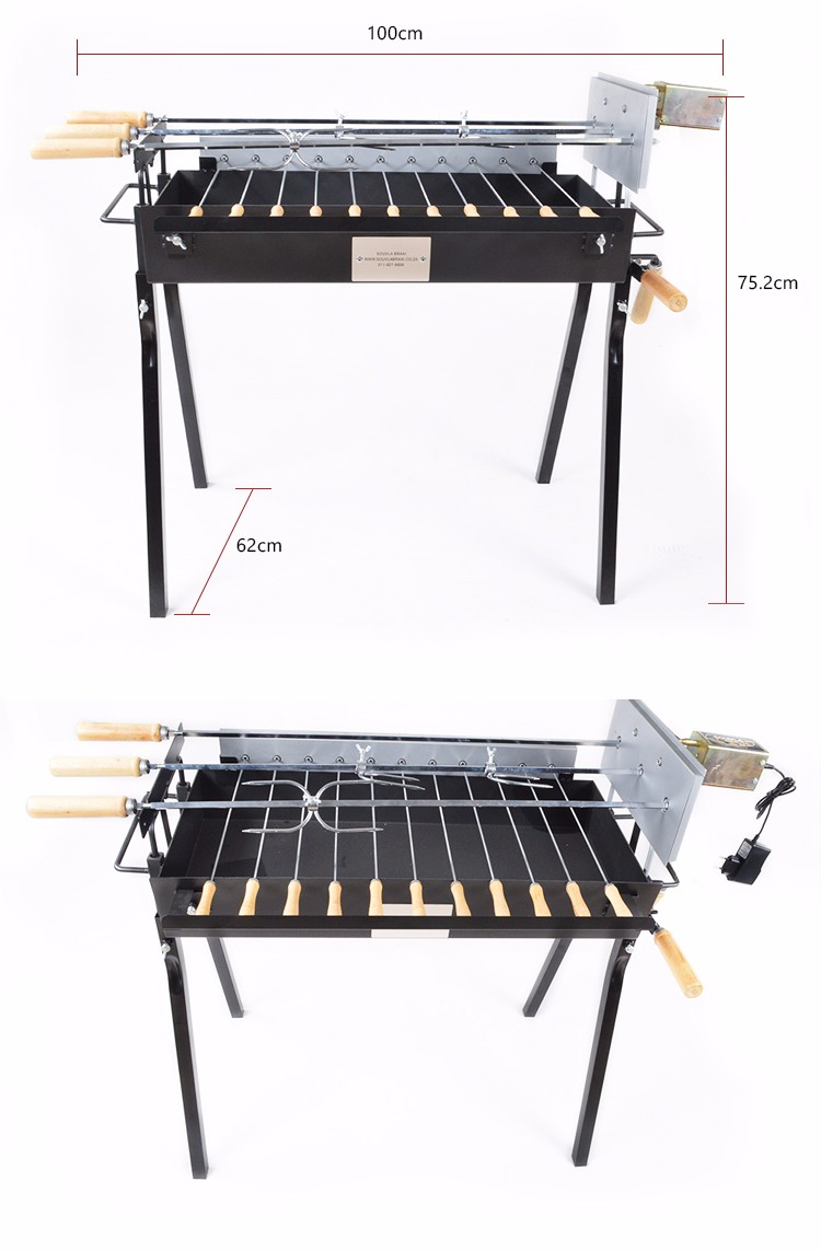 heavy duty spit rotisserie pig roaster Multifunction Charcoal and Electrial double use rotating cyprus barbecue bbq grill