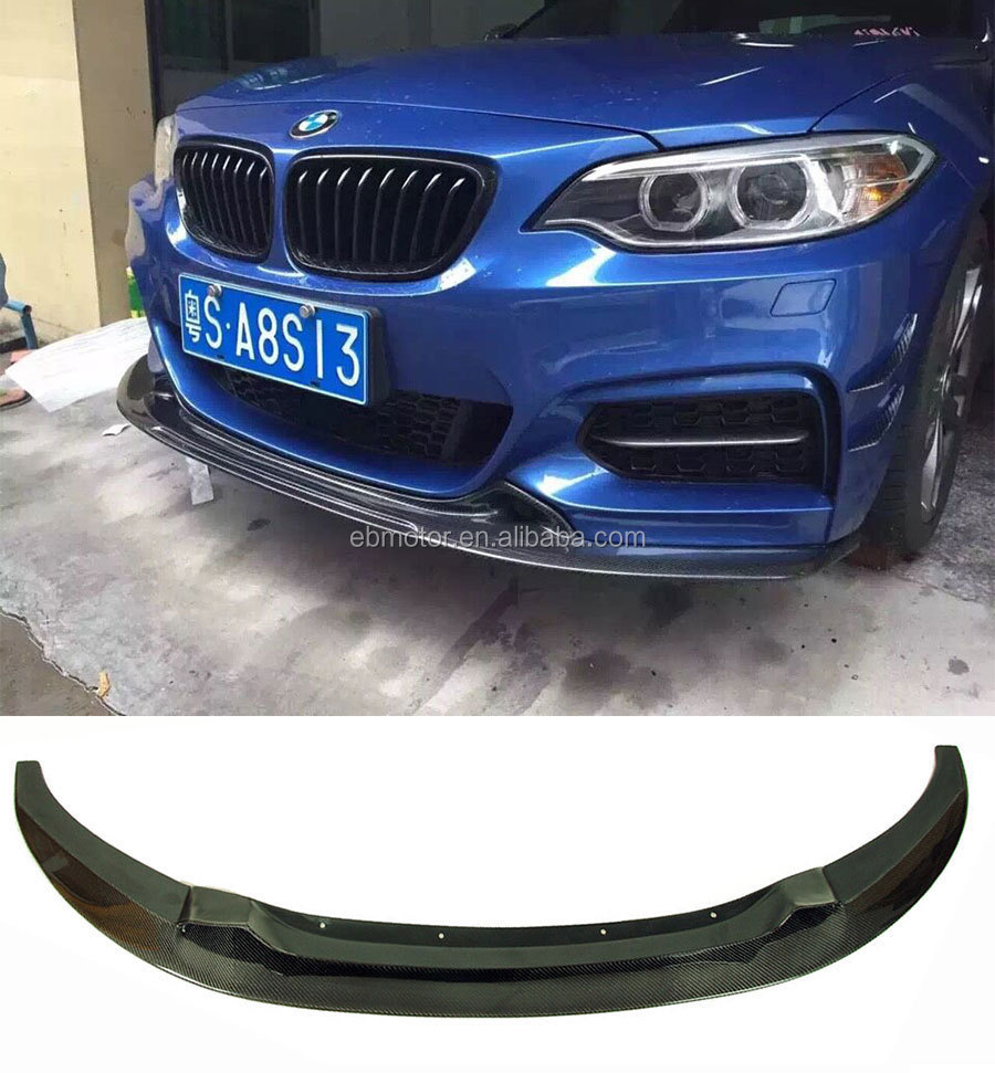 Real Carbon Fiber Front Lip Spoiler For BMW 2 Series F22 218i 220i 235i M Sport Bumper 2014UP B368