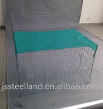 New design outdoor nature folding movable rabbit hutch with sunshade cover