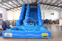 Commercial grade banzai inflatable water slide jumping castles inflatable water slide in guangzhou