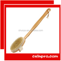 Natural Wooden Boar Bristle Brush, bath clean body brush