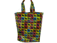 shiny pvc personalised shopping bags / Durable Waterproof Foldable Shopping Bag / promotional logo printed shopping bag