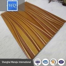 wood timber coppery 3d embossed mdf wall panels mdf design