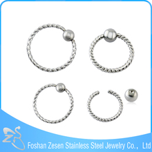 Best selling fashion BCR cheap piercing nipple nose ring