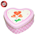 Metal wedding candy heart shape tin box
