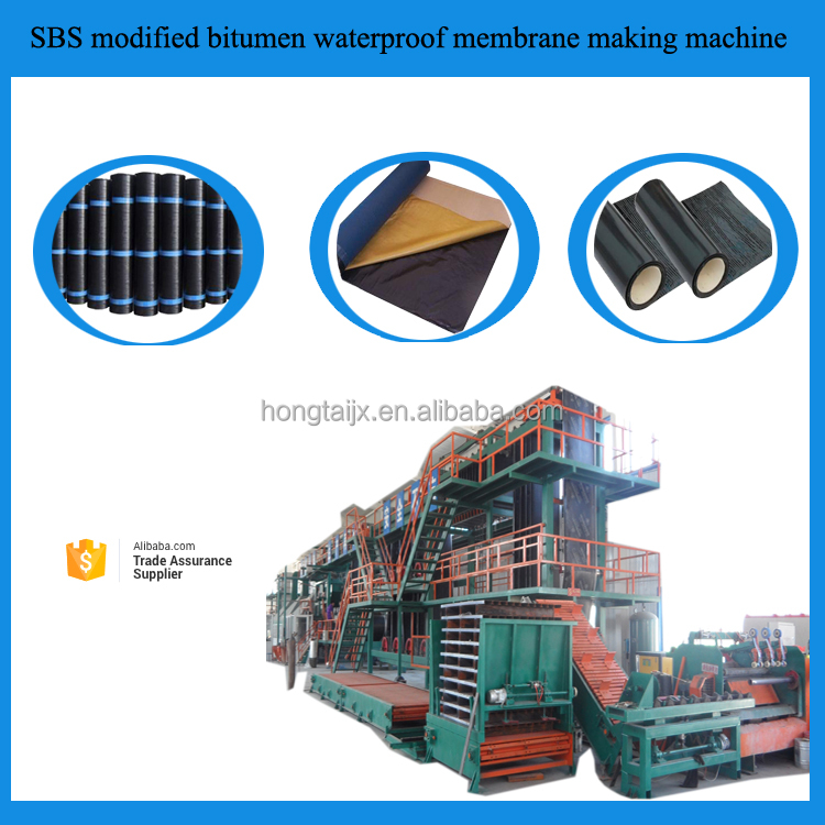 sbs/app bitumen Waterproof membrane production line/waterproof membrane machine