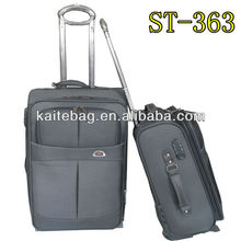 24 inch luggage bag perfect design fake button with coded lock grey suitcase set