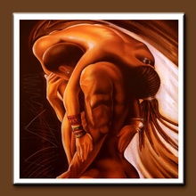 Handmade Figurative Oil Paintings Nude Naked Man and Woman Huge Paintings