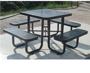 Arlau outdoor metal steel garden table and chair set