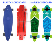 High quality plastic longboard / pp skateboard for sale