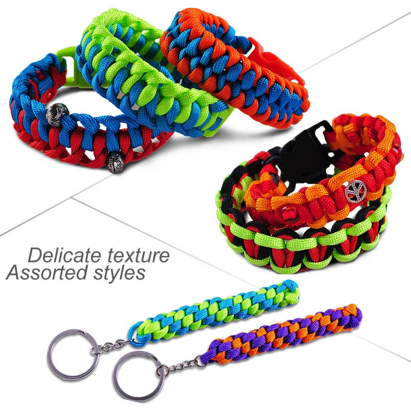 Hot Sale Fahsion Survival Bracelet DIY Paracord 550 Camping Accessories