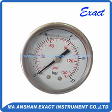 Stainless steel body liquid filled 150 psi 10 bar pressure gauge
