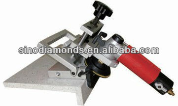 Beveled edge grinder for stone between 15~45 degree