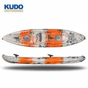 KUDO OUTDOORS 3 Person Kayak 3.7M Canoe Kayak Plastic Kayak Fishing Boats