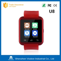 2016 High quality touch screen android smart watch bluetooth U8 watch phone u8