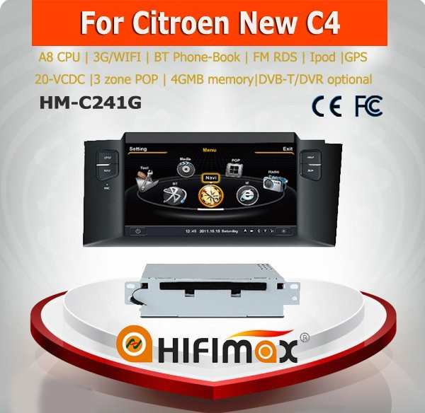 Hifimax car dvd gps navigation system FOR Citroen New C4