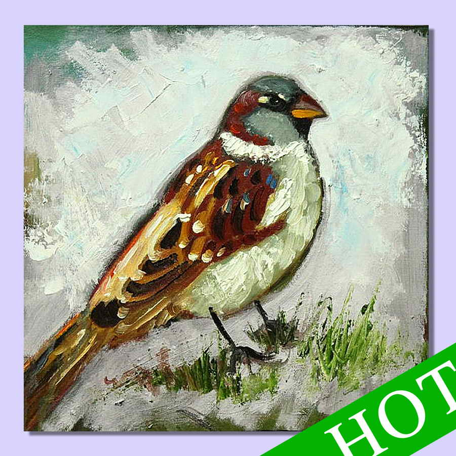 2014new design, high-quality animal theme wall decoration abstract art painting wholesale Sparrow Hot Topic
