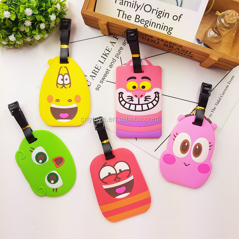 Customized PVC luggage tag, 2D embossed luggage tag custom, eco-friendly PVC bag tags
